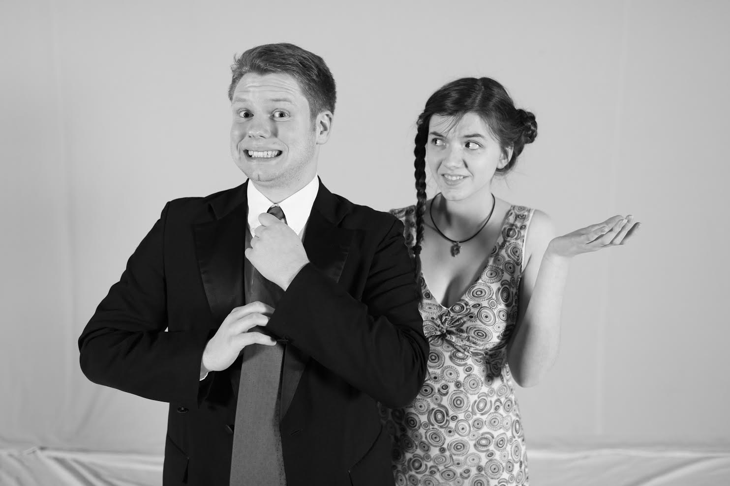 Cast members Nolan Lewis and Amy Winkle